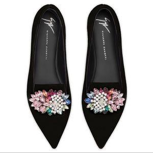 giuseppe zanotti • NEW • embellished pointy ballet